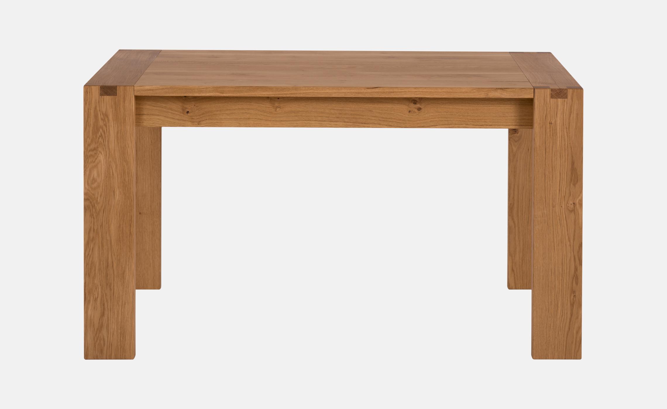 Table de s jour contemporaine en ch ne naturel huil avec for Table de sejour rectangulaire avec allonge