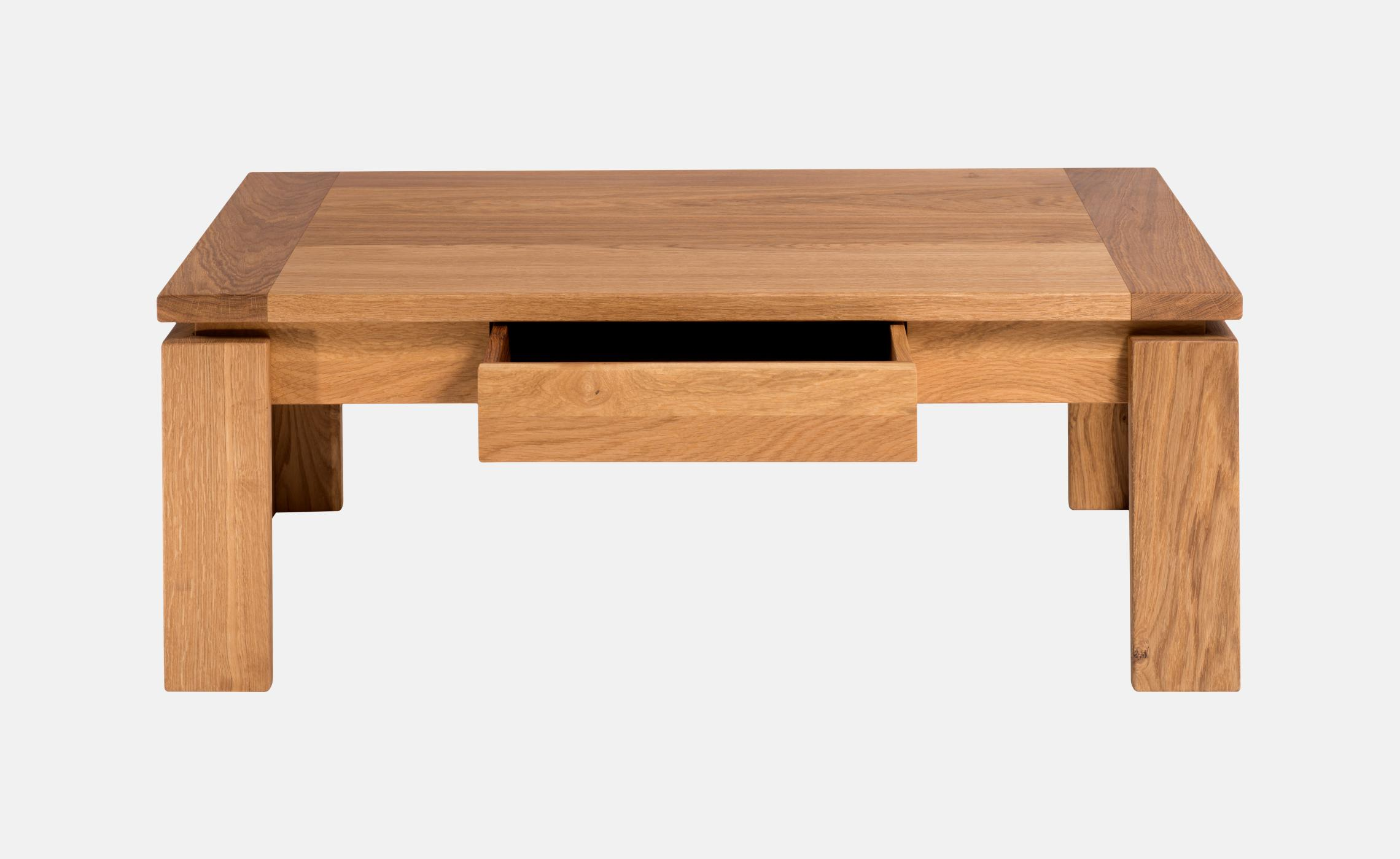 Table basse moderne en chene massif