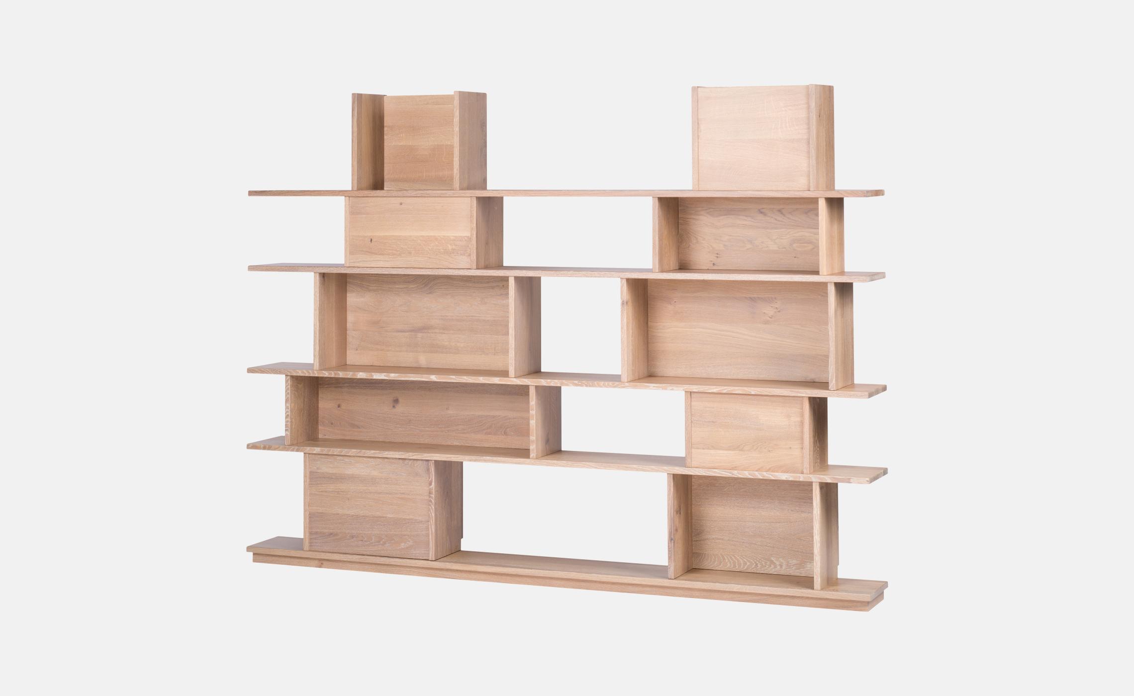 etag re biblioth que en ch ne pour livres et d co symphonie delorme meubles. Black Bedroom Furniture Sets. Home Design Ideas