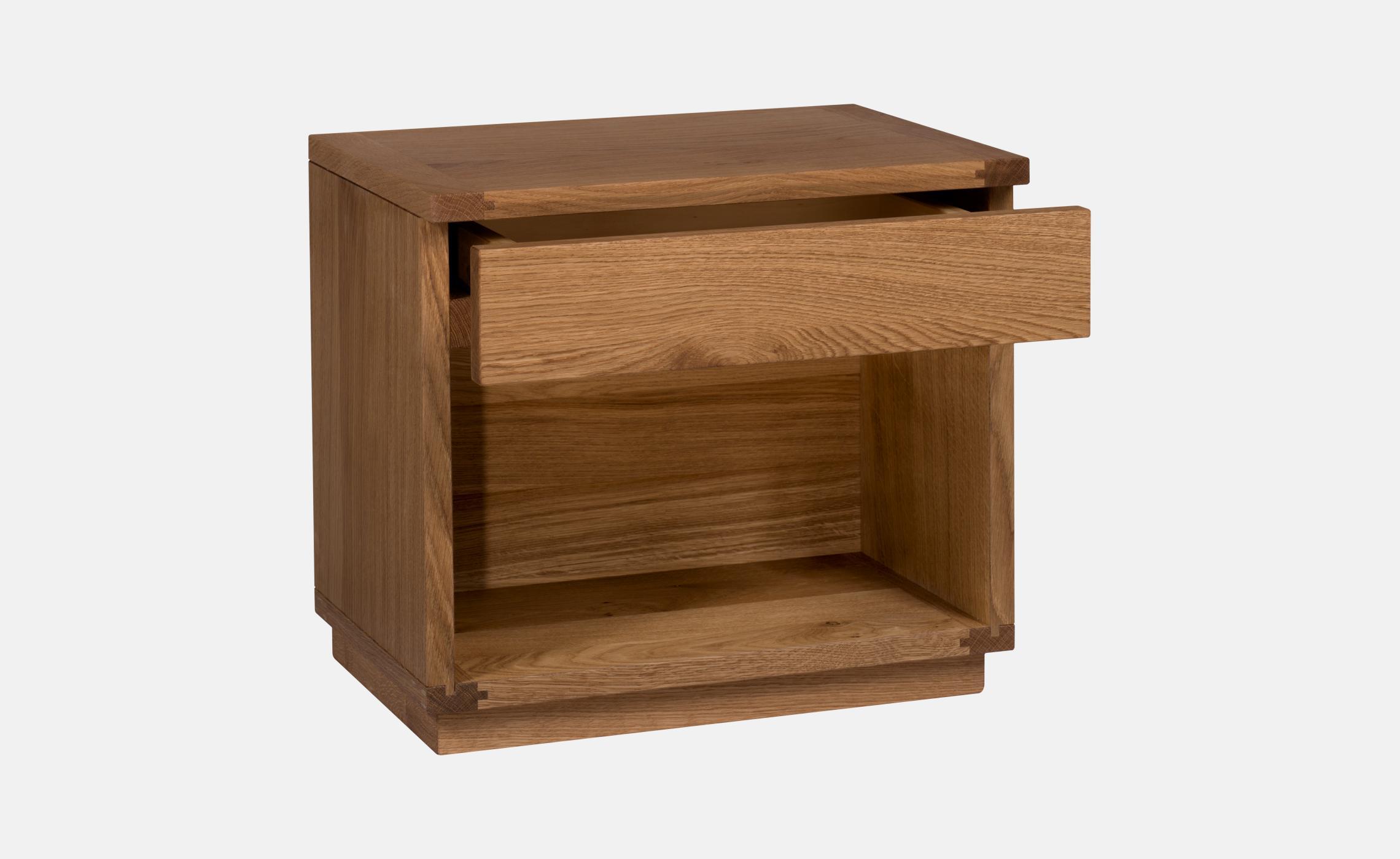 Table de chevet en ch ne avec tiroir zen delorme meubles - Table de chevet zen ...