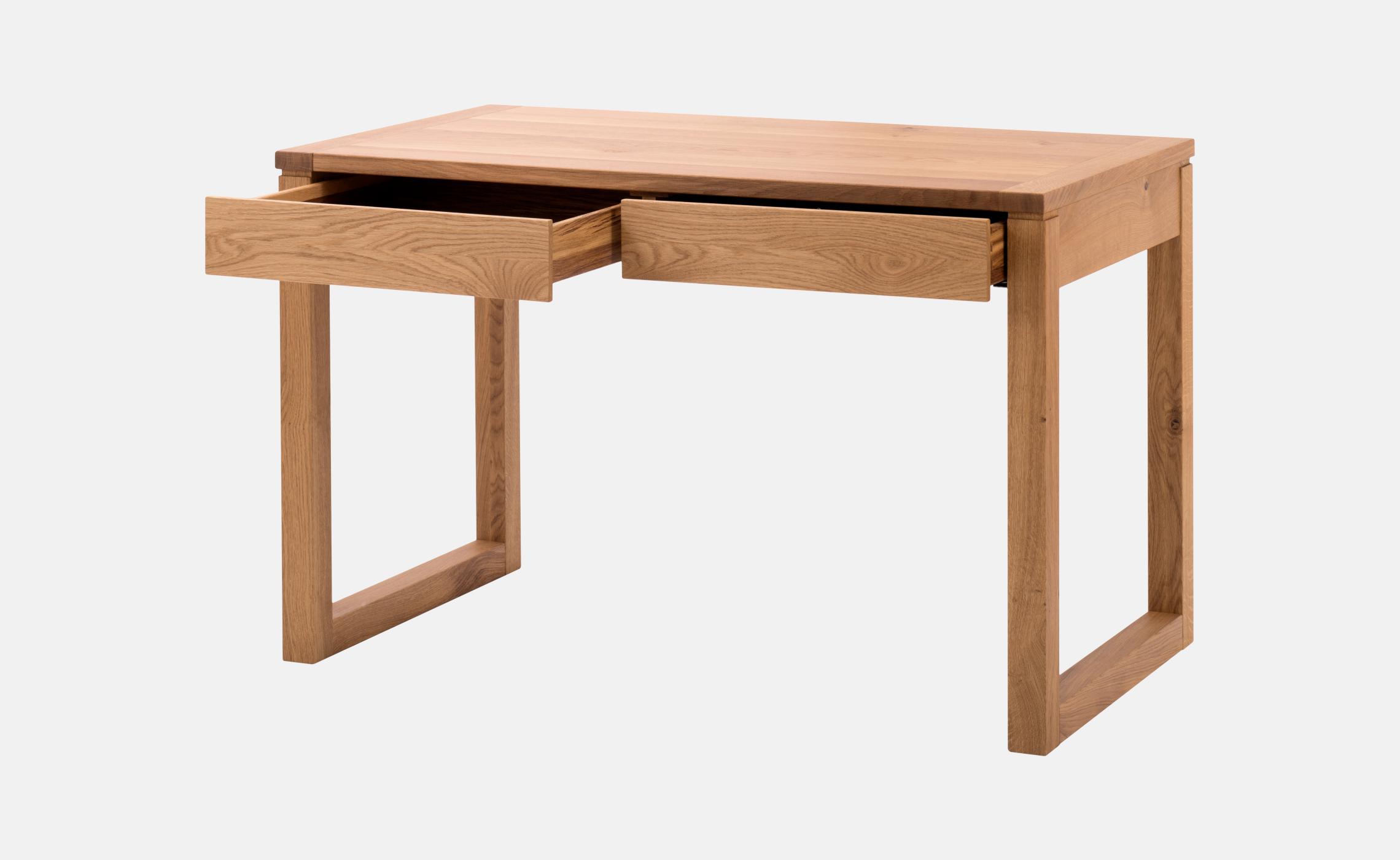 Table crire en ch ne avec tiroirs alize delorme meubles for Bureau en chene massif