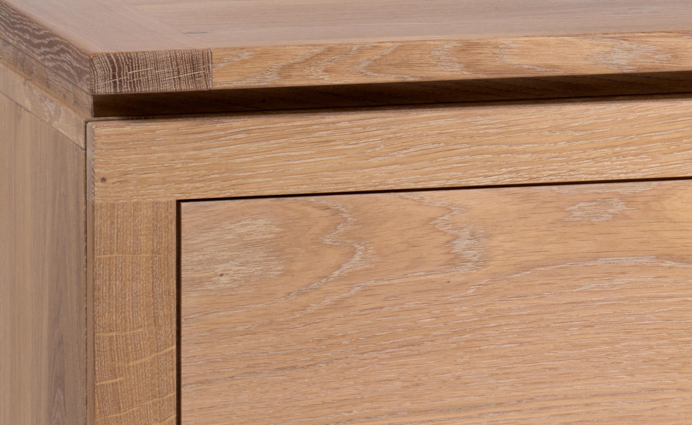 meuble de t l vision en ch ne organique delorme meubles. Black Bedroom Furniture Sets. Home Design Ideas