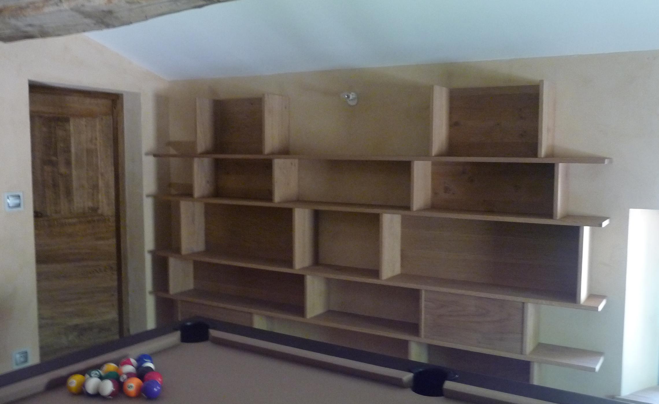 biblioth que sur mesure en ch ne sur mesure delorme meubles. Black Bedroom Furniture Sets. Home Design Ideas