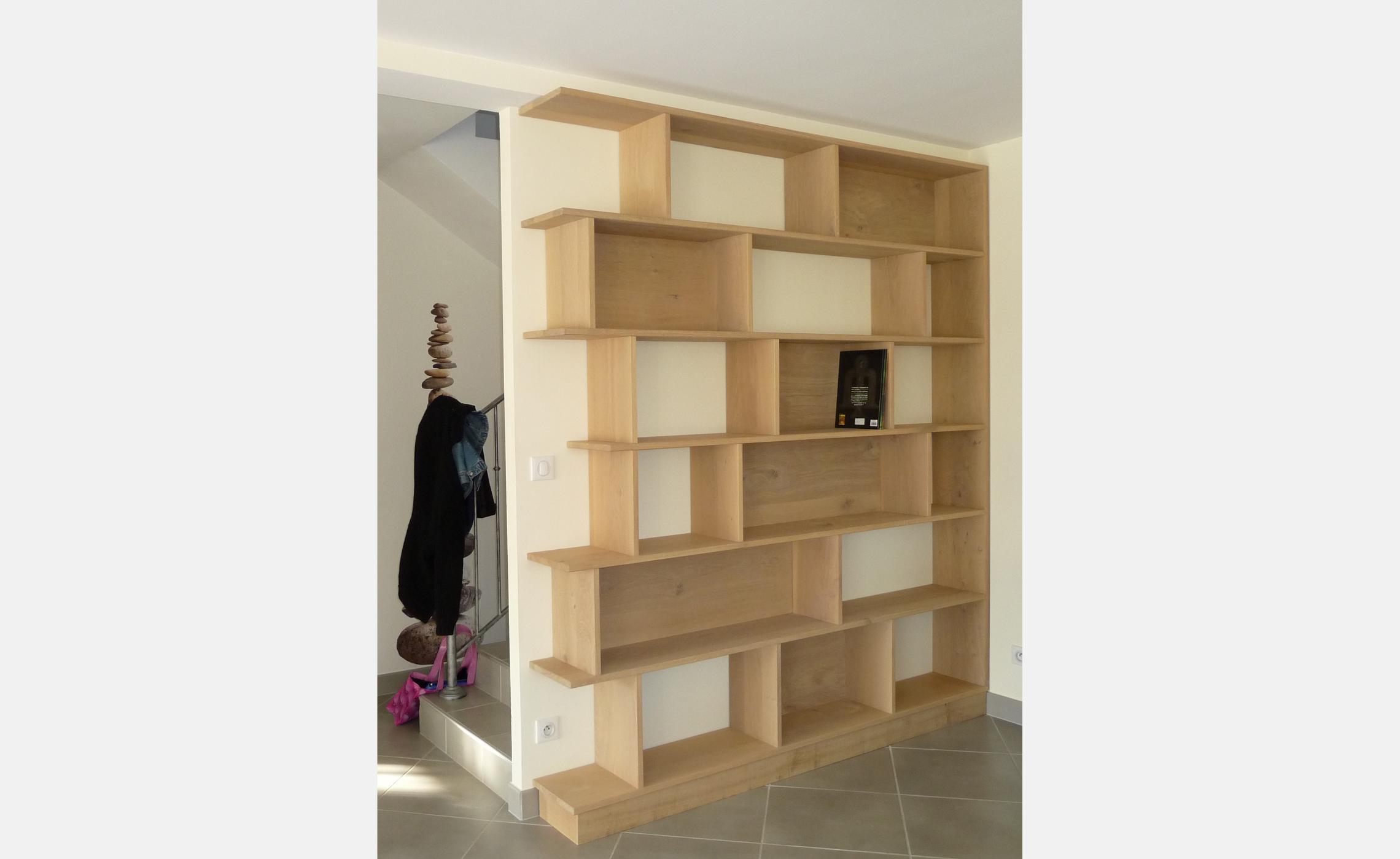 Biblioth que sur mesure en ch ne sur mesure delorme meubles - Bibliotheque sur mesure lapeyre ...
