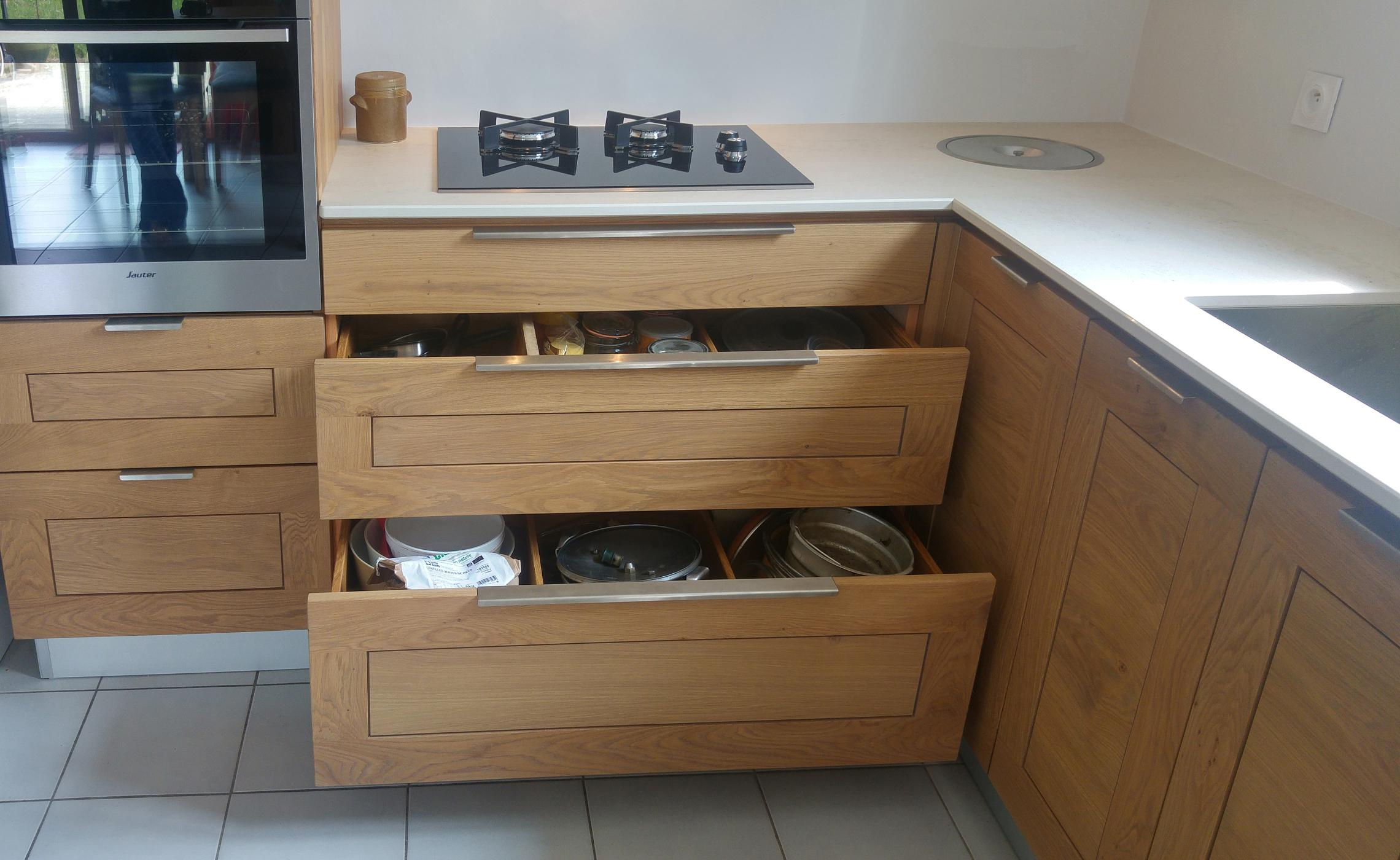 Fabricant De Caisson De Cuisine cuisine sur mesure en chêne sur mesure - delorme meubles