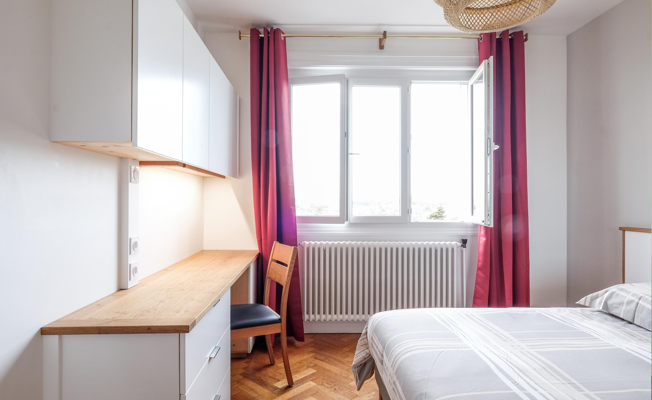Amenagement chambre collocation