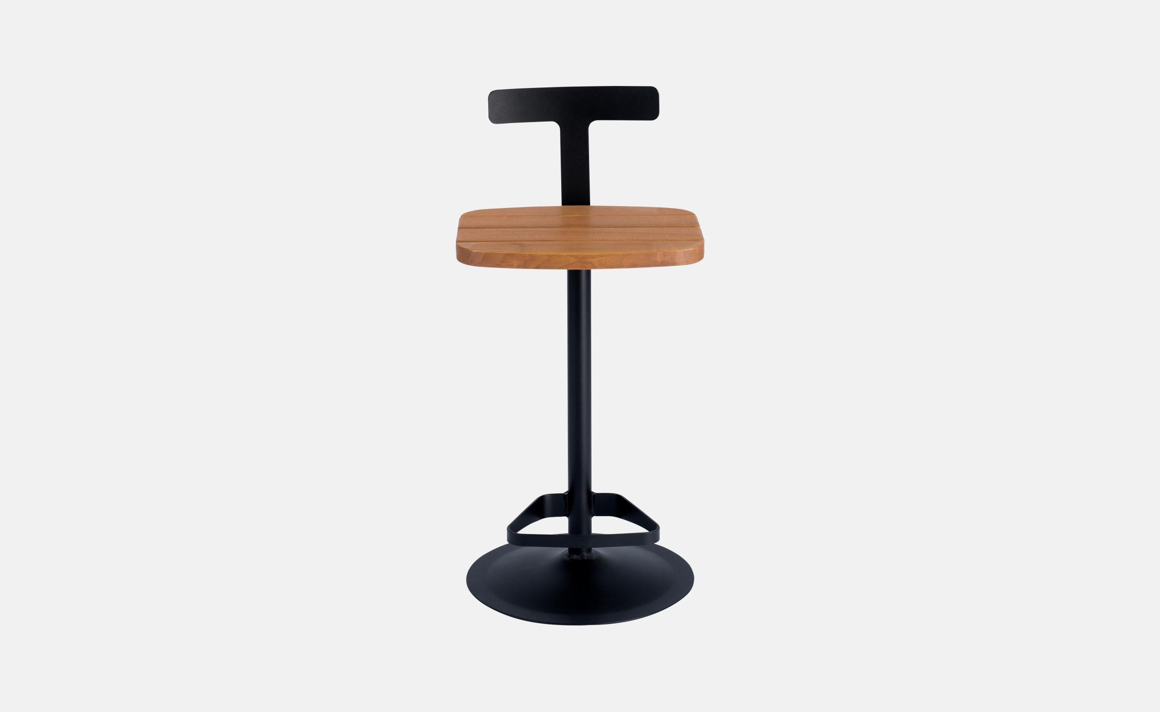 tabouret moderne m tal et assise bois agape delorme meubles. Black Bedroom Furniture Sets. Home Design Ideas