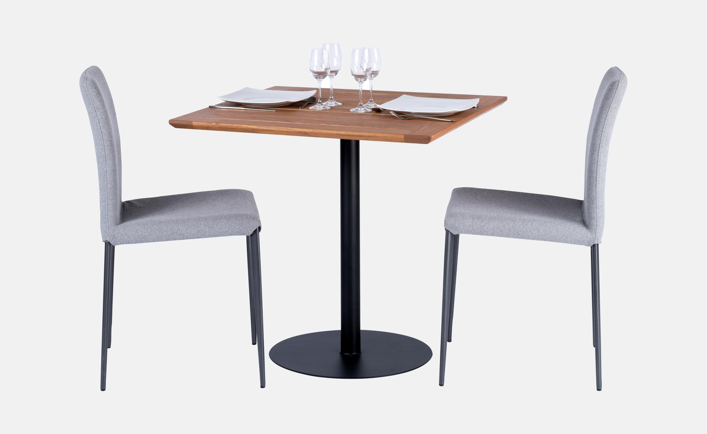 Table carre robinier