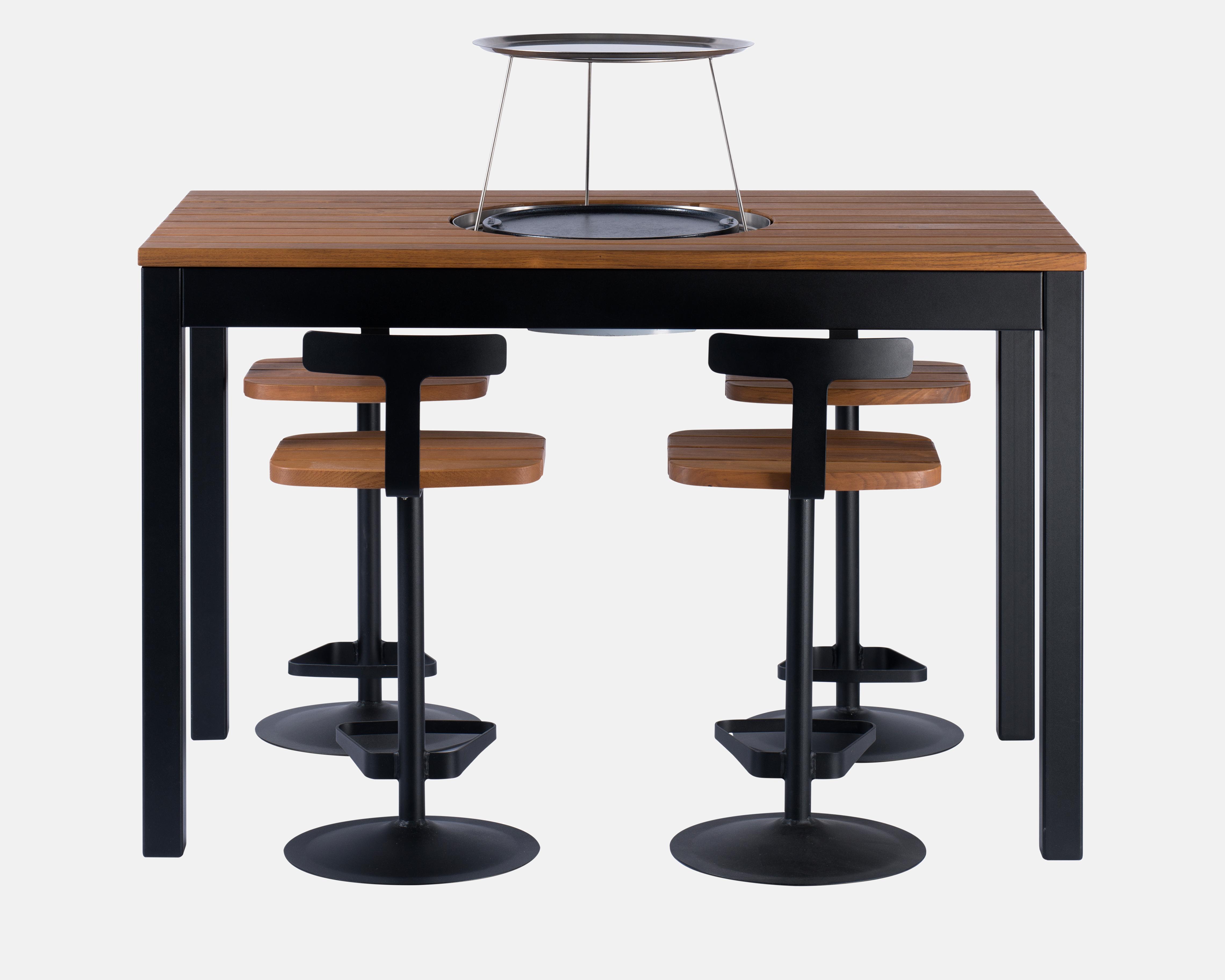 pack table haute avec plancha lectrique int gr e agape delorme meubles. Black Bedroom Furniture Sets. Home Design Ideas