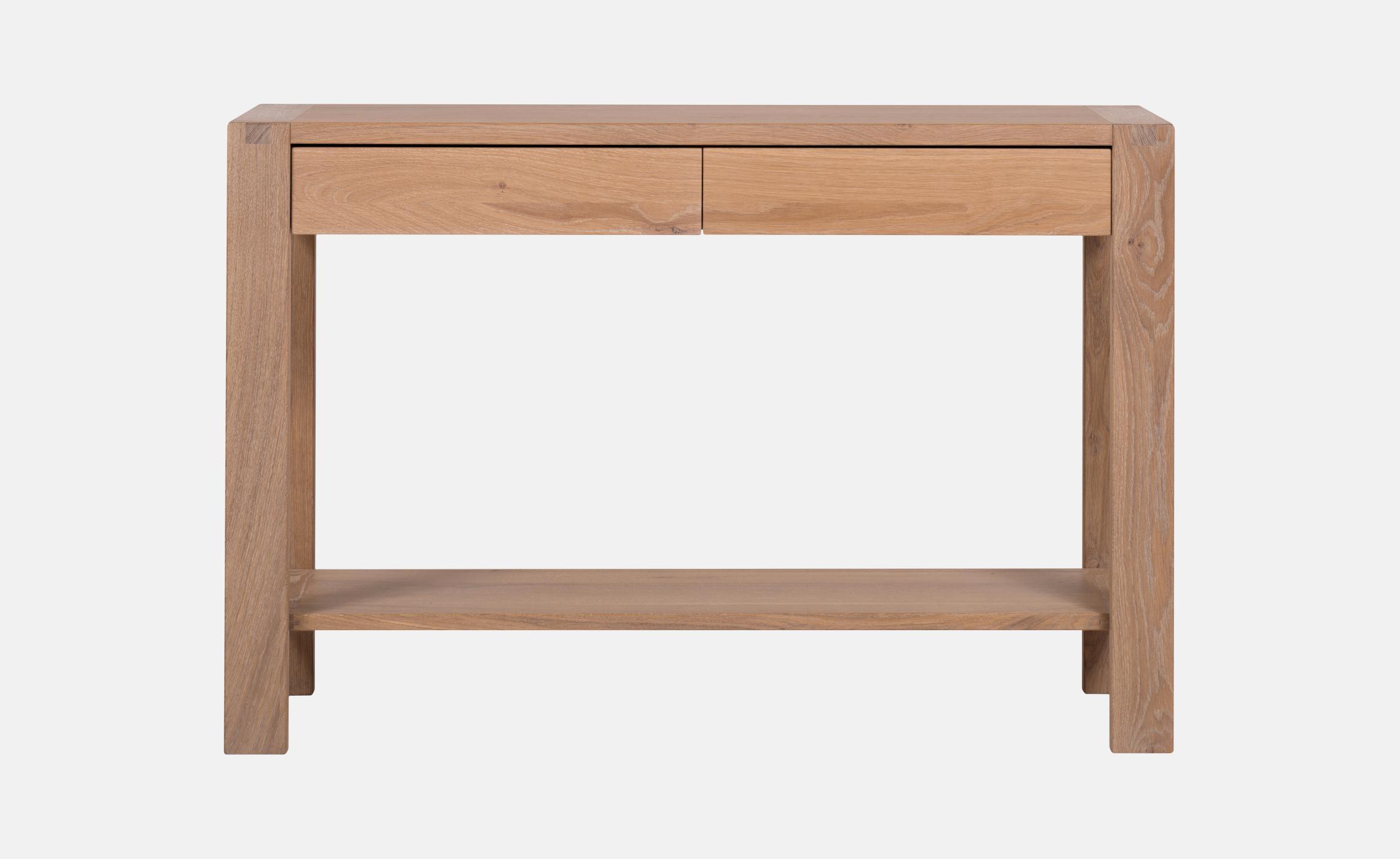 grande console en ch ne huil avec tiroirs sainbiose delorme meubles. Black Bedroom Furniture Sets. Home Design Ideas