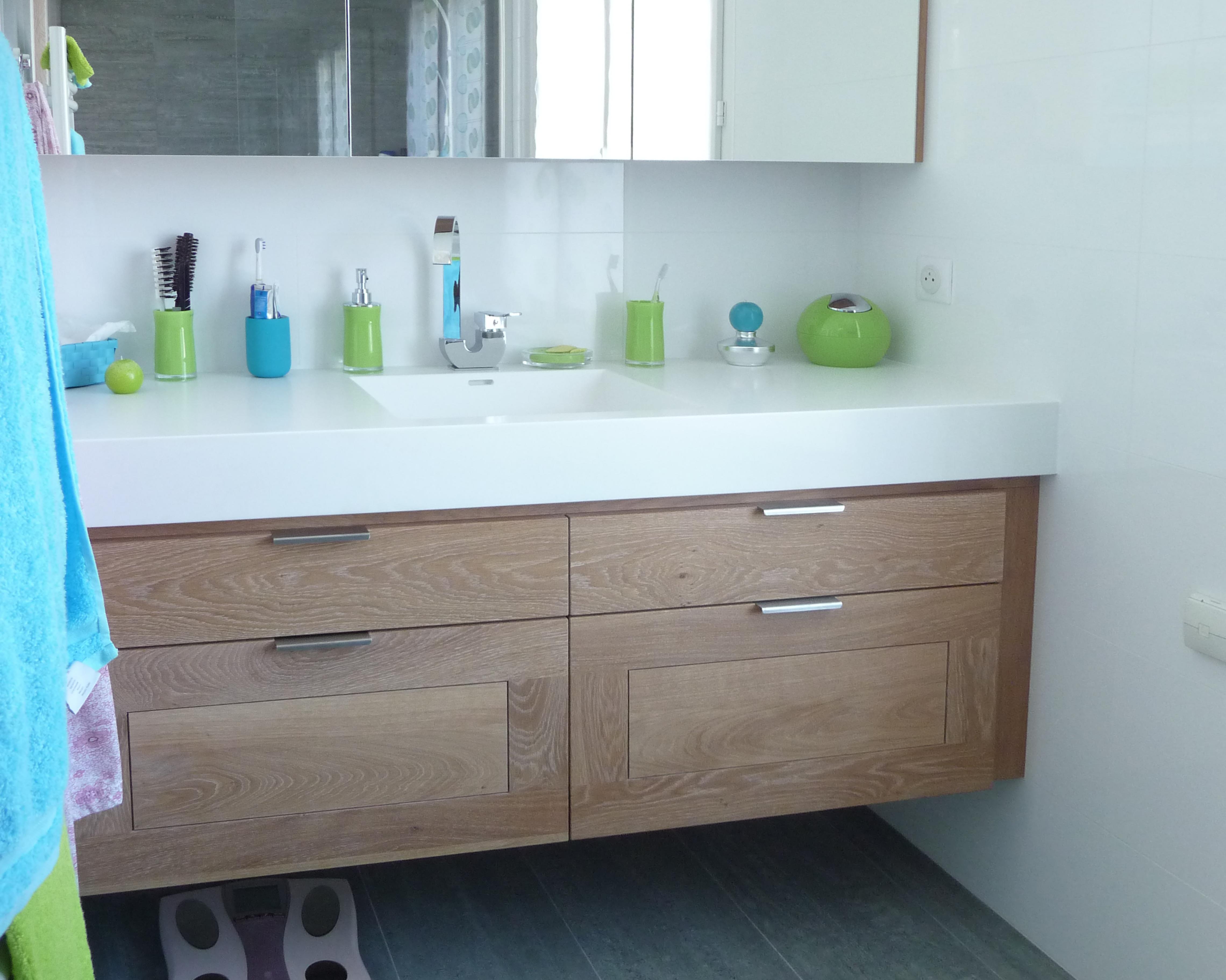 meuble de salle de bain sur mesure delorme meubles. Black Bedroom Furniture Sets. Home Design Ideas