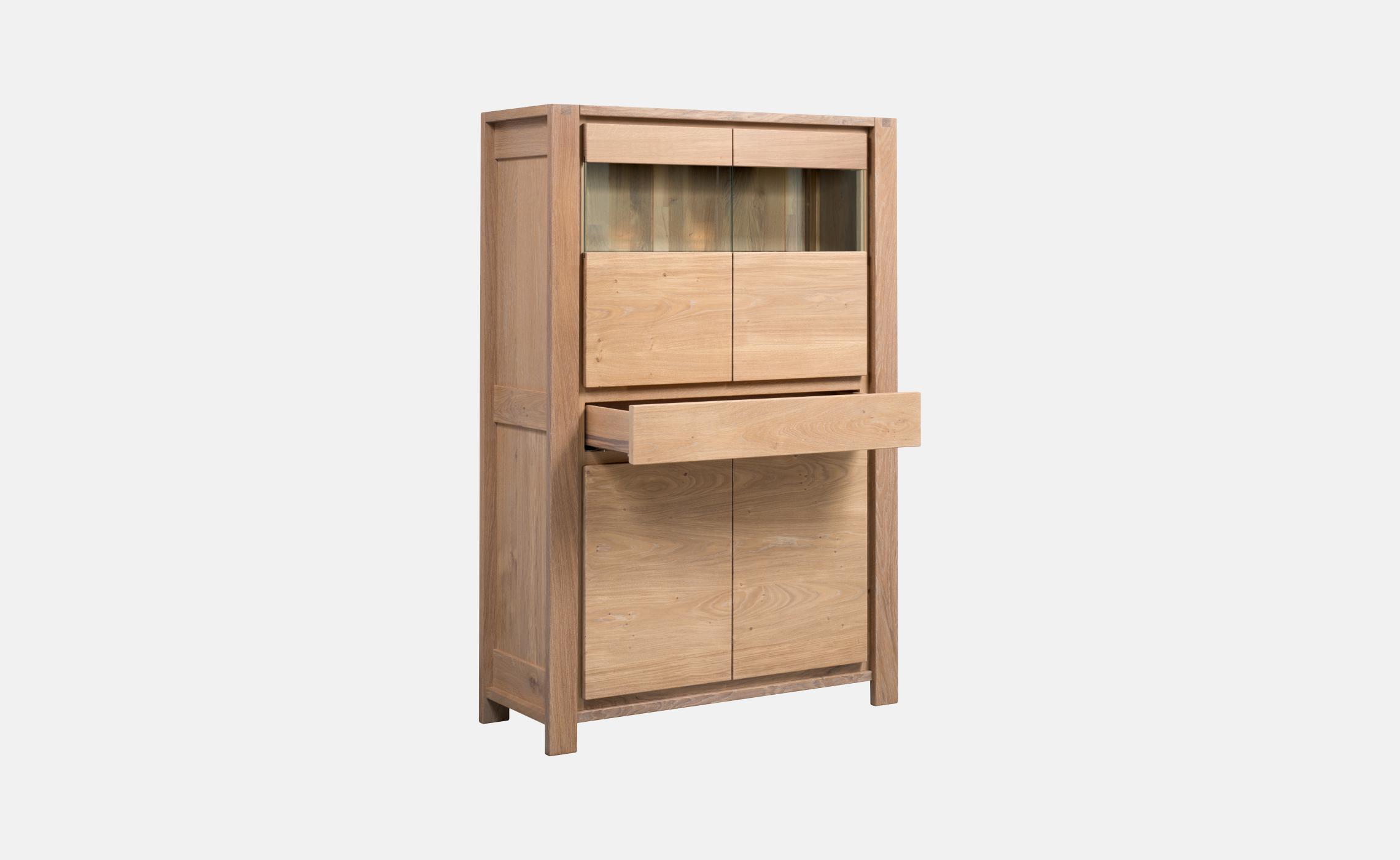 vitrine en ch ne eclipse delorme meubles. Black Bedroom Furniture Sets. Home Design Ideas