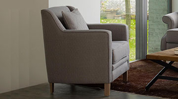 Fauteuil appoint tissu